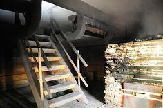 Smoke sauna Stockholm Archipelago, The Perfect Getaway, Saunas, Street Food, Finland, Villa, Stairs, Smoke, Bathroom