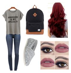 """""""Um I don't even know lol"""" by isabella3612 ❤ liked on Polyvore featuring J Brand, TOMS and Herschel"""