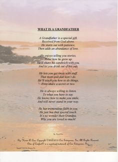 Hey, I found this really awesome Etsy listing at https://www.etsy.com/listing/121634665/five-stanza-what-is-a-grandfather-poem