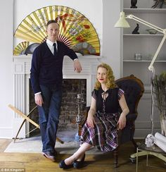 Farrow and Ball Strong White and Pavilion Grey (Jimmy MacDonald and Rachel Isherwood, founders and curators of modern design exhibition Tent London)