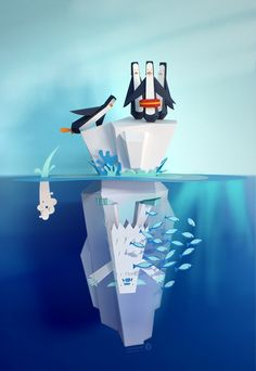 Below the surface. on Behance