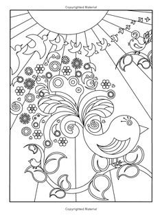 flower designs to color dover nature coloring