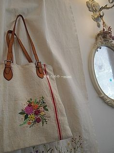 햄프린넨 가방 ~ : 네이버 블로그 Boro, Purses And Bags, Burlap, Projects To Try, Reusable Tote Bags, Monogram, Michael Kors, Handbags, Pattern