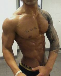 Muscular jacked and beautiful torso of the late Zyzz who got hench from steroids