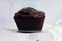 These rich, dark chocolate cupcakes are the ultimate pick-me-up. Made with real chocolate, my favourite choc cupcake recipe Dense Chocolate Cupcake Recipe, Dark Chocolate Cupcakes, Melting Chocolate, Chocolate Recipes, Nutella Cupcakes, Chocolate Party, Decadent Chocolate, Chocolate Chocolate, Cupcake Recipes