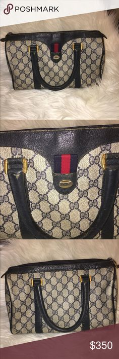 Authentic Vintage Gucci Doctor Bag Authentic Vintage Gucci Doctor Bag. I have pictured all the flaws/scratches of the hardware and leather. It is a beautiful bag! Ask any questions! Reasonable offers welcome! Bags Satchels