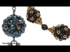 How to Make an Ornate Beaded Bead Using Right Angle Weave Double Needle Method - YouTube