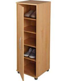 buy hallway cabinet with shoe storage oak effect at. Black Bedroom Furniture Sets. Home Design Ideas