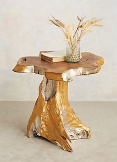 Side Table for your Living Room Teak Root Side Table Trunk Furniture, Unique Furniture, Dining Furniture, Contemporary Furniture, Home Furniture, Furniture Design, Furniture Ideas, Unique Coffee Table, Coffee And End Tables