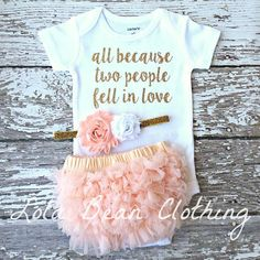 Baby Girl Coming Home Outfit Take Home outfit Bodysuit Set #babyclothes