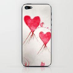 Hearts iPhone & iPod Skin by Christine Baessler - $15.00