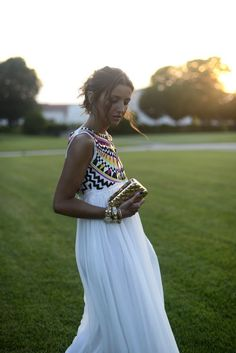 WhiteSleeveless Boho Chiffon Maxi Dress on Luulla