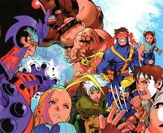 X-Men vs Street Fighters by Bengus