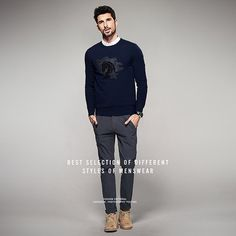 Dark Blue Printed Pullover – $60.51 Find this and much more at MARTINZ  - http://MartinzClothing.com/ #mensclothing #top #sweaters #pullovers #shoppingday #shoppingtime #shopping #shoponline
