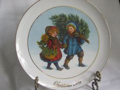 AVON Christmas Plate AVON Collectible Plate 1981 by MyVintageTable, $8.00
