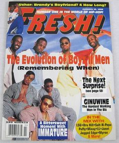 Fresh Hip Hop Music Magazine January 1998 Boyz II Men Salt n Pepa Aaliyah Janet