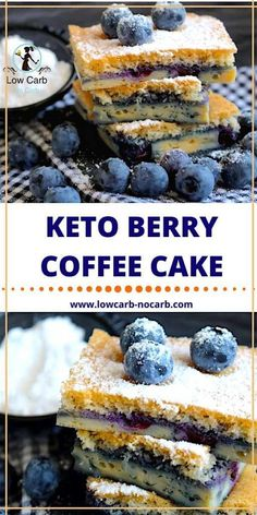 Keto Low Carb Berry Coffee Cake is a mix of tangy and sweet! Keto Foods, Keto Approved Foods, Keto Food List, Keto Meal, Desserts Keto, Keto Snacks, Easy Snacks, Dessert Recipes, Keto Cake