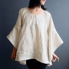 iheartfink Handmade Natural Linen Top