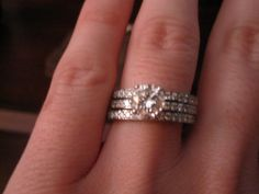 3 Band Engagement Ring I Would Love To Have A Man Propose With This Wedding Setsour