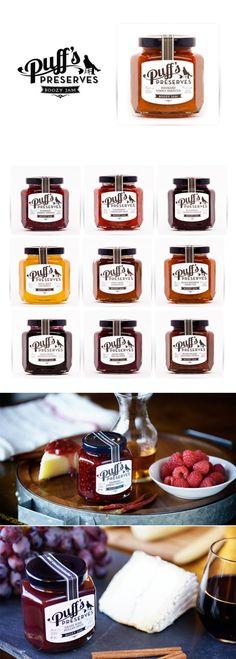 Puff's Preserves Boozy Jam #food #packaging #design