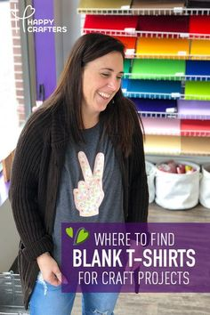 Not sure where to find blank shirts, bags, totes, and more for your craft vinyl projects? Happy Crafters now carries a wide range of blank apparel! Use alongside your HTV & Silhouette Cameo or CriCut Explore Air Silhouette Cameo Shirt, Silhouette Cameo Tutorials, Silhouette Projects, Silhouette School, Silhouette Portrait, Cricut Air 2, Cricut Vinyl, Cricut Fonts, Vinyl Crafts