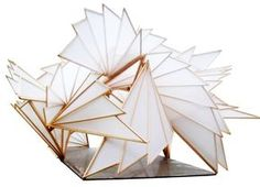 bamboo pavilion by Natalie Snyder at Folding Architecture, Concept Models Architecture, Architecture Model Making, Pavilion Architecture, Organic Architecture, Futuristic Architecture, Contemporary Architecture, Interior Architecture, Residential Architecture