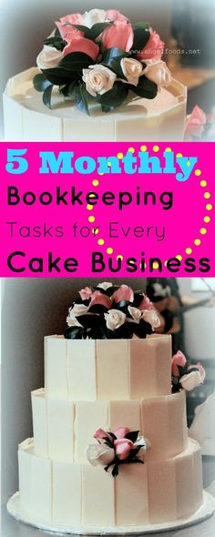 5 Monthly Bookkeeping Tasks for Every Cake Business | Tax time for cakers and bakers (generally) leaves you pulling your hair out. With the new tax year starting this week, it is timely (and kinda essential) to get great bookkeeping practices under your b