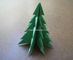 Origami Instruction Christmas Tree Type 1