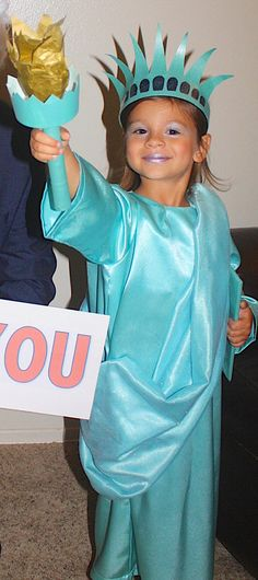 Statue of Liberty Child Costume by JustSewSpecialShop on Etsy