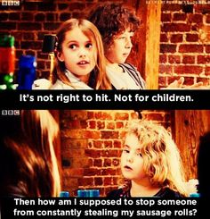 "When she was rightfully protective over her food: | 21 Times Karen From ""Outnumbered"" Was The Funniest Kid In Britain"