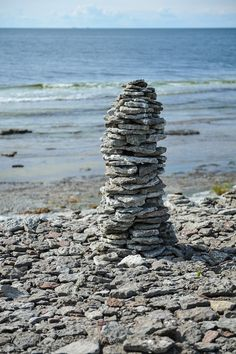 Sandvik, northern Öland Island, Sweden | Öland is the second largest Swedish island Stone Balancing, Lappland, What Is Like, Sea Shells, Places To Travel, Seaside, Coastal, Beautiful Places, Random Pictures
