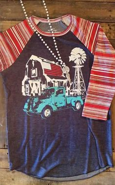 Striped Splicing O-Neck Baseball T-Shirt T-shirts - Cheap Price Sweater Pumpkins, Western Outfits, Cowgirl Outfits, Fall Country Outfits, Girls Western Wear, Cowgirl Clothing, Country Dresses, Cowgirl Fashion, Cowgirl Jewelry