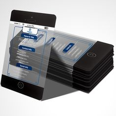 #Black #iPhone6 #Transparent #Plastic #BusinessCards from @inkgility