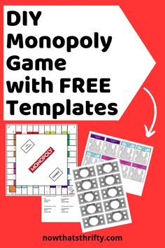 Board games 306667055879477582 - Do you want to create your own DIY Monopoly game? Use our free templates and easy tutorial for making your own game. Board Game Themes, Clue Board Game, Board Games For Couples, Old Board Games, Board Game Design, Diy Board Game, Make Your Own Monopoly, Make Your Own Game, Board Game Template