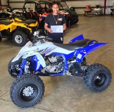 Thanks to Alesha Caesar from Tchula MS for getting a 2016 Yamaha YFZ450R at Hattiesburg Cycles