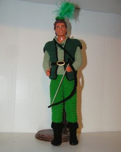Ken doll Robin Hood outfit pattern on Etsy.