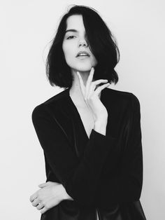 Agnes Nabuurs, shot by Izabela Rachwal; My hair is long again so naturally I want to cut it short again.