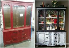 How to Share a Thon The Ole Red Cupboard with Modern Masters One day a few years ago while out looking for a piece to use with another project I was wo Recycled Furniture, Furniture Projects, Furniture Making, Painted Furniture, Modern Furniture, Furniture Refinishing, Distressed Furniture, Refurbished Furniture, Furniture Redo