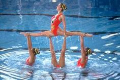 We don't do fancy backstroke looking beautiful synchro is a sport I mean just look at that picture u can't say that's not a sport