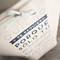 "Pack de 5 bolsas kraft ""Sólo tú me haces sentir tan especial"". Se venden en: www.mrwonderfulshop.es #bolsa #kraft #DIY"