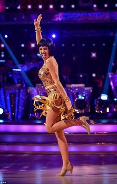 Razzle dazzle them! Georgia May Foote performed a show-stealing Charleston to the Chicago classic Hot Honey Rag with her pro partner Giovanni Pernice on Saturday night's Strictly Come Dancing