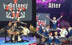 When EXO became cheerleader | allkpop Meme Center