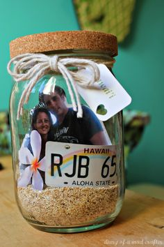 Vacation Memory Jar: An Inspiration. Maybe make and fill with reminders of God's blessings or answers to prayer?