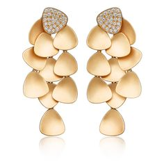 Bahia Earrings in Rose Gold with Diamonds