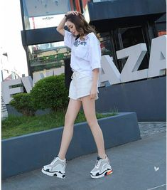 8a0f5962c437 High quality women sneakers sport shoes walking shoes summer breathable  2018 new hollow high shoes within