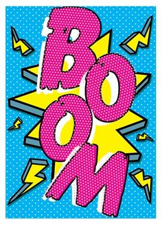 Boom! - Pop Art Implosion! #Wallpaper #Background #Patterns #Print…