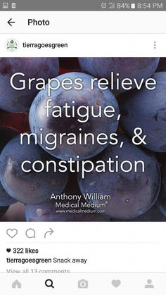 Ancient Remedies Grapes relieve fatigue, migraines, and constipation. Soy Milk Nutrition, Grape Nutrition, Quest Nutrition, Health Facts, Health Diet, Health And Nutrition, Health And Wellness, Hair Health, Smart Nutrition
