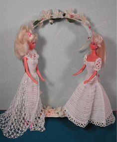 Crochet mode poupée Barbie Pattern - #28 rapide & facile des robes de mariée