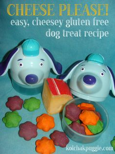 These #DIY #DogTreats are so easy to make, they're #GlutenFree and they pack a huge cheesey flavour that even the humans at our house LOVE.