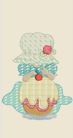 "Sun bonnet sue machine embroidery download        (5x6"" 4x5 ""4x4,5"" hoop)"